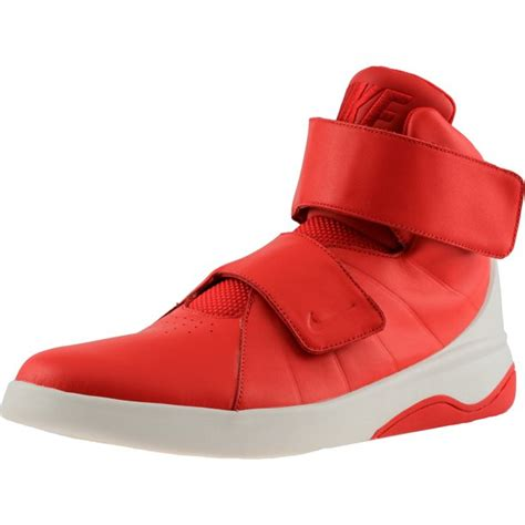 Men's Marxman University Red/Red-Sail-Black Ankle-High Leather Basketball Shoe - 10M