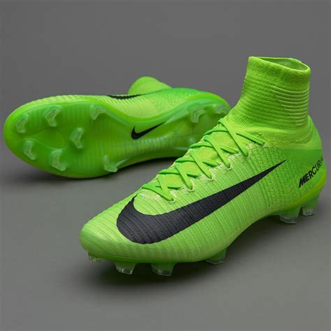 Men's Mercurial Superfly V FG Electric Green/Black/Ghost Green Soccer Shoes