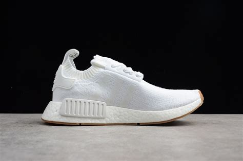 Men's NMD_R1 Primeknit White/Gum Running Shoes - BY1888 US 10
