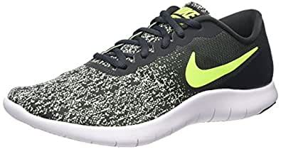 Men's Nike Flex Contact Running Shoe Anthracite/ Volt-Barely Volt-White 10
