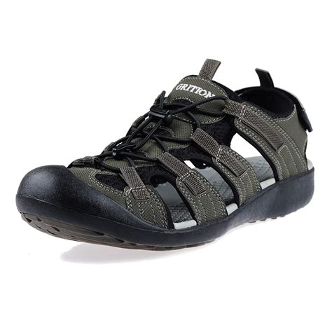 Men's Outdoor Sandals Protective Topcap Water Shoes Sport Hiking Sandals Waterproof Quick Dry Large Size