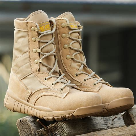 Men's Outdoor Ultralight Breathable Military Desert Boots Tactical Duty Work Boot