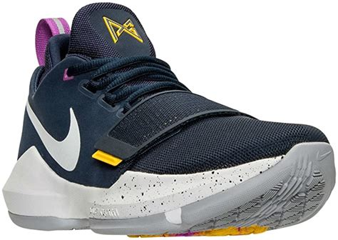 Men's PG 1'The Bait Basketball Shoes (11 D(M) US, Obsidian/University Gold/Hyper Violet/Wolf Grey)