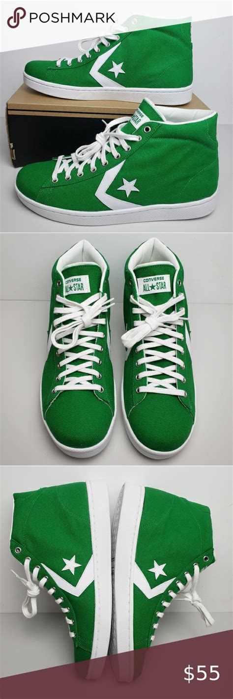 Men's PL '76 MID Skateboarding Shoes Green/White/White 156691C