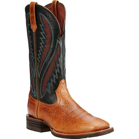 Men's Quickdraw Venttek Western Cowboy Boot, Gingersnap, 8 2E US