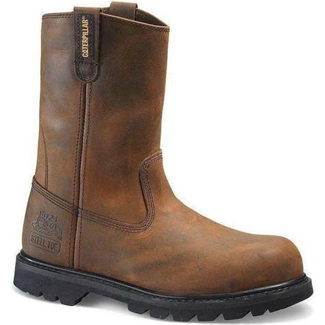 Men's Revolver Pull-On Steel-Toe Leather Boot