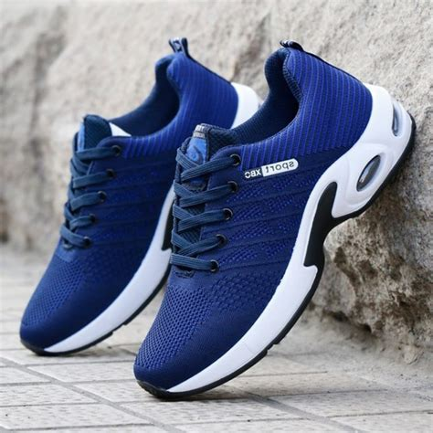 Men's Running Shoes Air Cushion Breathable for Walking Sports Sneakers
