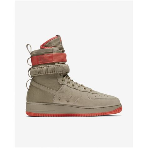 Men's SF Air Force 1 Shoe Khaki/Rush Coral