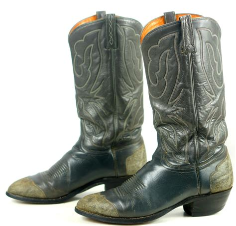 Men's Sand Leather Cowboy Saddle Style Rubber Sole Rodeo Boots