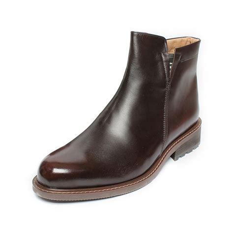 Men's Side Zip Ankle Boot Round Toe - 1114