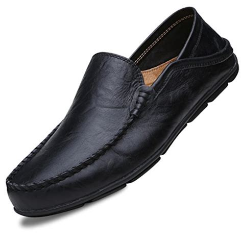 Men's Slip On Loafers Shoes Premium Leather Driving Shoes Casual Fashion Slipper