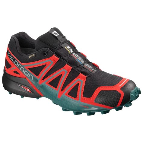 Men's Speedcross 4 GTX Trail Running Shoes & Spare Quicklace Bundle