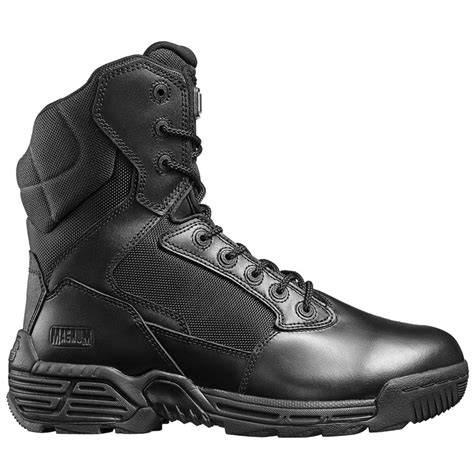 Men's Stealth Force 8' Side Zip Waterproof Comp Toe I Shield Military and Tactical Boot