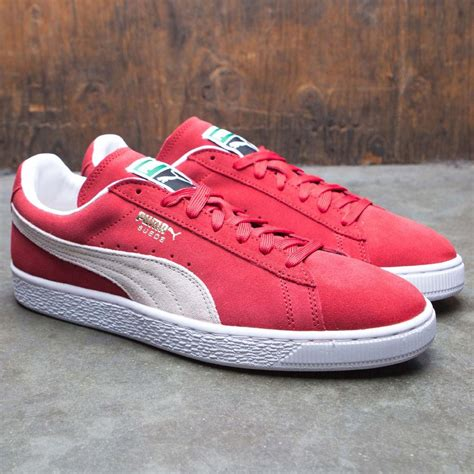 Men's Suede Classic + Sneaker, High Risk Red/White, 10 M US
