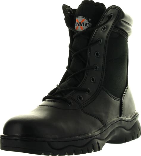 Men's Tactical Boots Side Zipper Black Combat Military Swat Work Shoes