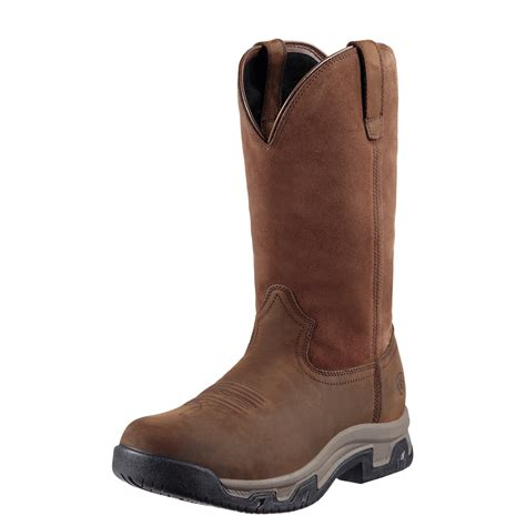 Men's Terrain Pull-On H2o Western Boot