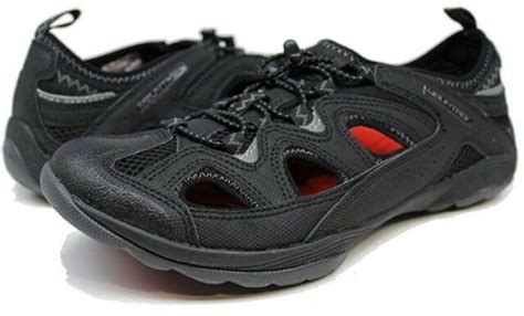 Men's Vista 10001 Black Red Slip On Lite Hiking Shoes