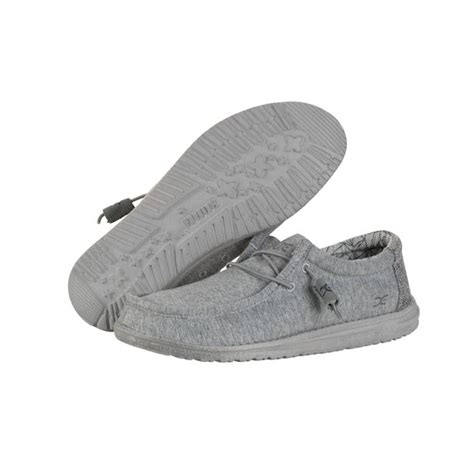 Men's Wally Stretch Loafers, Grey, Textile, Memory Foam, 9 US M / EU 42