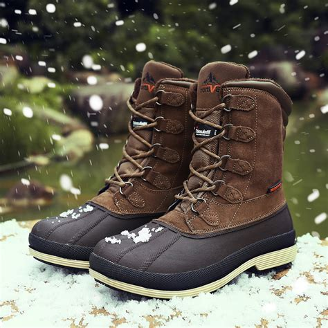 Men's Winter Boots Comfortable Outdoor Waterproof Lace Up Snow Boots For Men