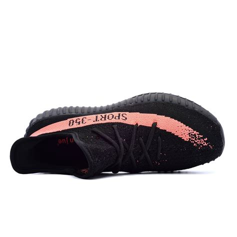 Men's Women's Breathable Mesh 350 V2 Sport Sneakers(42EU,Black/Orange)