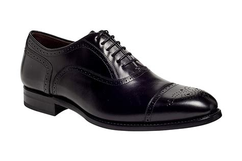 Men's York Cap-Toe Quarter Brogue Dress Shoe in Premium Italian Leather Goodyear Welted