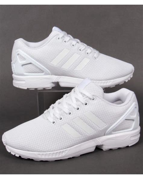 Men's ZX Flux, White/White