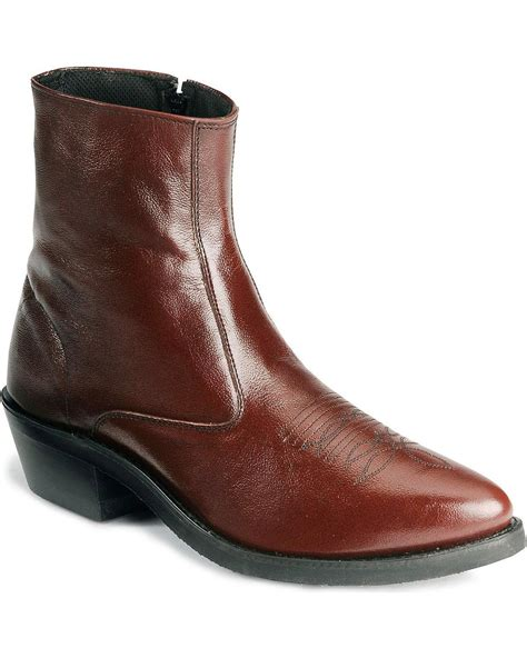 Men's Zipper Western Ankle Boot - Mz7082