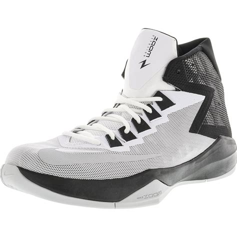 Men's Zoom Devosion White/Metallic Silver-Black High-Top Basketball Shoe - 10M