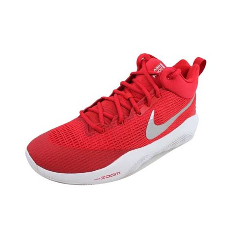 Men's Zoom Rev TB Basketball Shoes Red/Metallic Silver-White (922048-600) Size 7.5