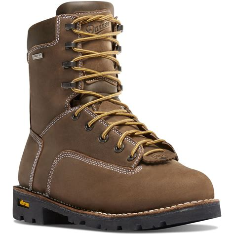 Men's gritstone 8' Brown Work Boot