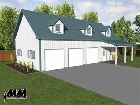 Menards 4 Car Garage Plans