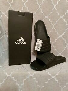Mens Adilette Black Synthetic Sandals 11 US