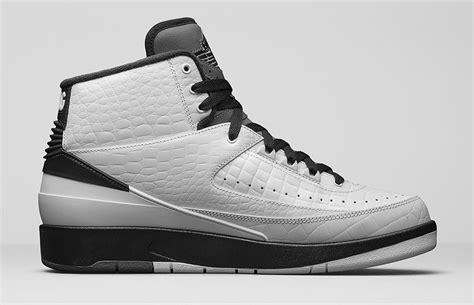 Mens Air Jordan 2 Retro Wing It White/Black-Dark Grey Leather