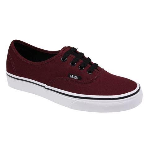 Mens Authentic Trainers Burgundy