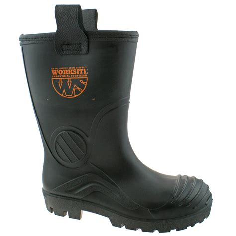 Mens Black Rigger Safety Wellington Boot