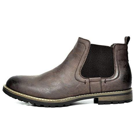 Mens Chelsea Boots Slip On Dress Shoes Leather Ankle Boots Formal Shoes by