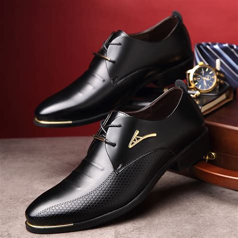 Mens Classic Leather Oxford Shoes