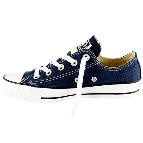 Mens Converse All Star Ox Low Top Chuck Taylor Chucks Lace Up Trainer-Navy