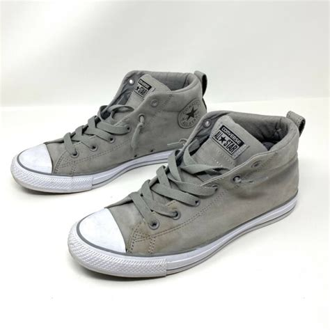 Mens Converse High Street Mid 154882f Light Grey Black Sneakers