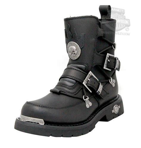 Mens Distortion Black Mid Cut Riding Boot