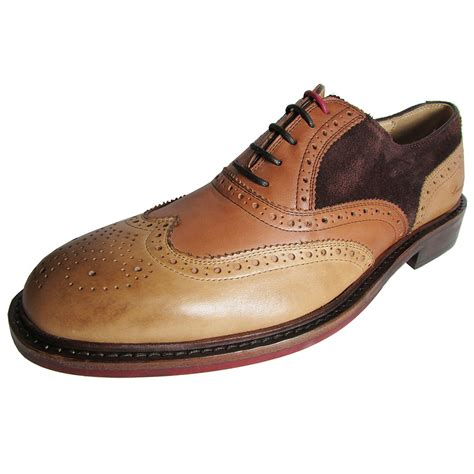 Mens Elite Class Wingtip Oxford Shoe