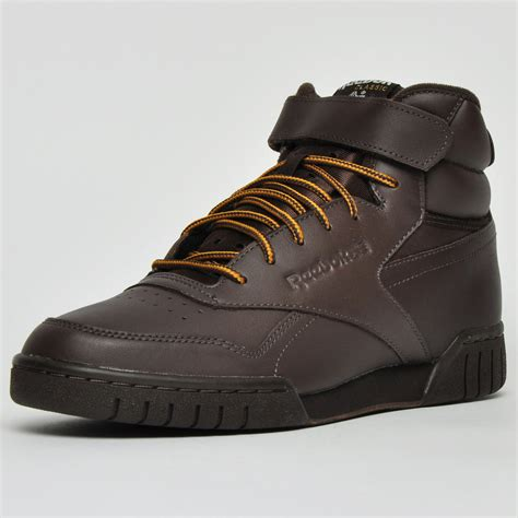 Mens Ex-O-Fit Hi Leather Trainers