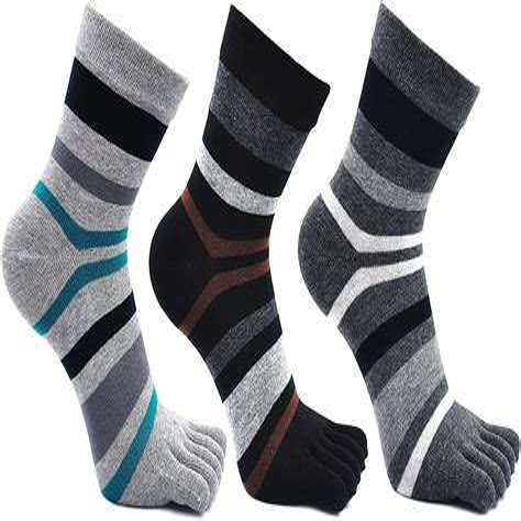 27b836ea6 💥 Mens Five Finger Toe Socks Cotton Running Mini Crew Socks (uk ...