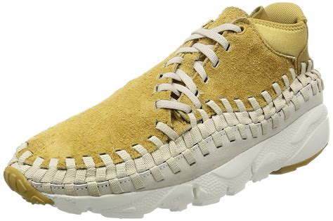 Mens Footscape Woven Chukka QS Flat Gold/Orewood Fabric