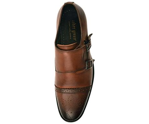 Mens Genuine Leather Classic Double Monk Strap Dress Shoe with Cap Toe Style Stowe