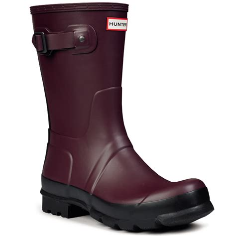 Mens Hunter Original Two Tone Short Rain Waterproof Snow Wellingtons