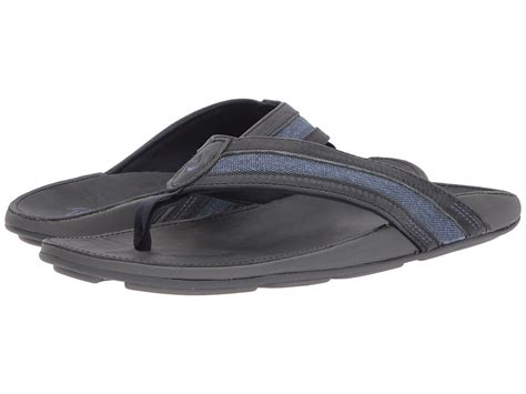 Mens Ikoi Thong Sandal, Trench Blue, 12 D (M) US