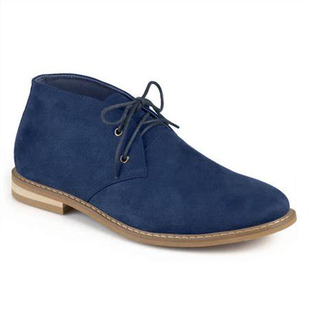 Mens Lace-up Faux Suede High Top Chukka Boots Blue, 10.5 Regular US