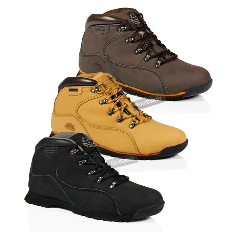Mens Leather Lightweight Steel Toe Boots