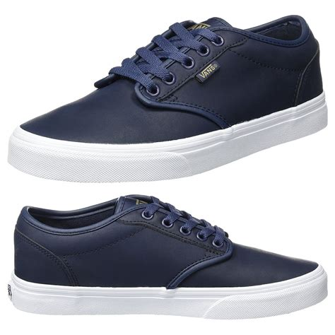 Mens Leather Vans Sneakers